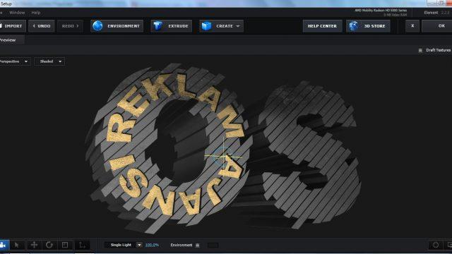 OS Reklam 3D Logo